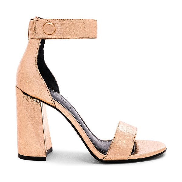 "KENDALL + KYLIE Jewel Sandal in metallic copper - ""Metallic leather upper with man made sole. Ankle strap..."