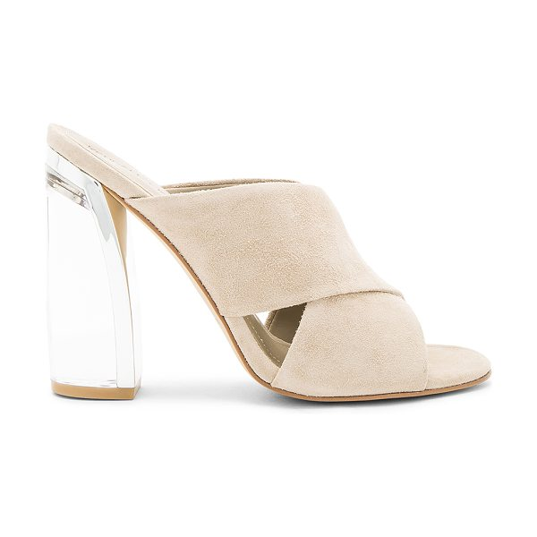 KENDALL + KYLIE Karmen Heel in beige - Suede upper with man made sole. Slip-on styling....