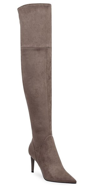 KENDALL + KYLIE kkzoa knee-high boots in taupe - Exposed stitching lends an edgy aesthetic to these sleek...