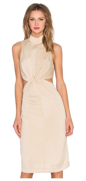 KENDALL + KYLIE Knot Front Jersey Dress in beige - Viscose blend. Dry clean only. Fully lined. Waist...