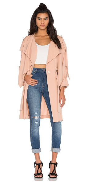 KENDALL + KYLIE Lightweight Trench Coat in beige - Poly blend. Dry clean only. Button front closure. Waist...