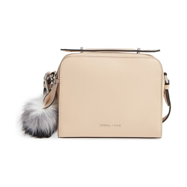 KENDALL + KYLIE lucy leather crossbody bag in cream tan - A vintage-inspired camera bag with an optional,...