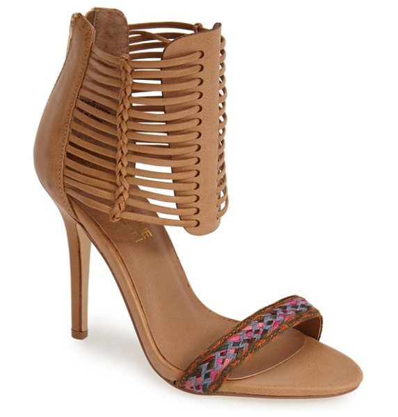 KENDALL + KYLIE madden girl demie sandal in cognac - A bright, woven toe strap draws attention to your latest...
