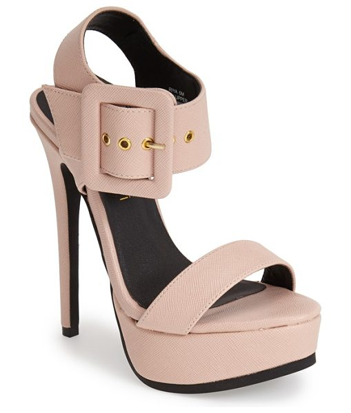 KENDALL + KYLIE madden girl riya platform sandal - An oversized buckle provides an edgy accent for this...