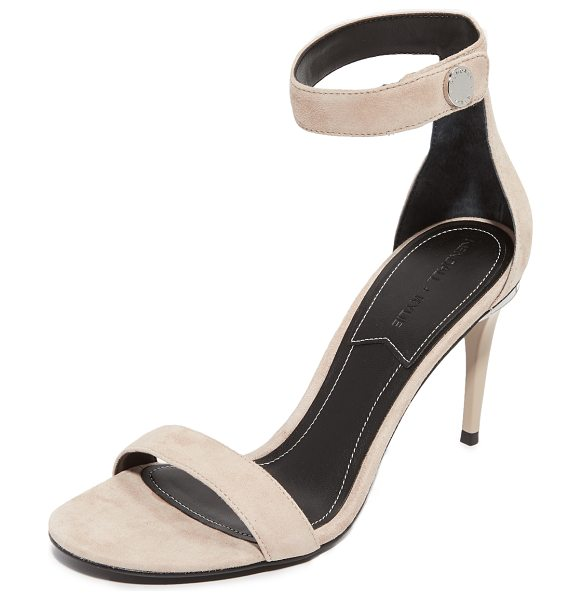 KENDALL + KYLIE madelyn mid heel sandals in beige - Refined KENDALL + KYLIE sandals in luxe suede. A...