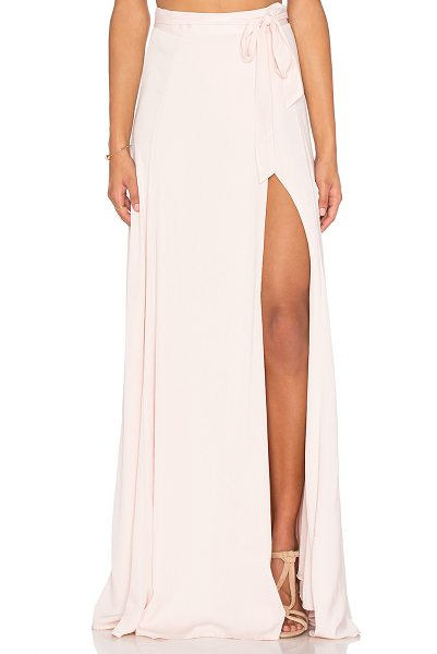 KENDALL + KYLIE Maxi Wrap Skirt in pink - Rayon blend. Dry clean only. Fully lined. Wrap front...