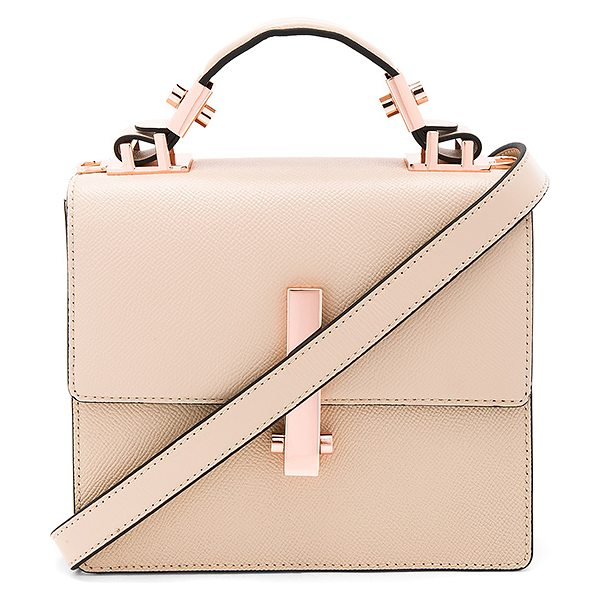 KENDALL + KYLIE Minato Mini Bag - Leather exterior with faux suede fabric lining. Flap top...