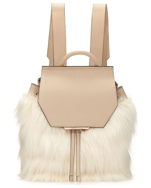 KENDALL + KYLIE Nancy Leather Faux-Fur Backpack - Kendall + Kylie leather backpack with faux-fur...