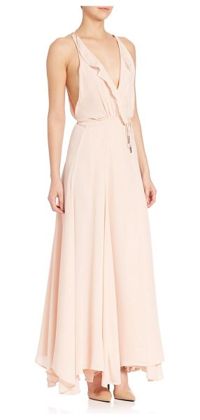 KENDALL + KYLIE plunging v-neck drape gown in soft pink - A drape gown with drawstring waist for a desired fit....