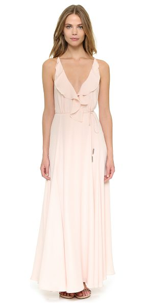 KENDALL + KYLIE Ruffle wrapped maxi dress - Layered crepe lends a romantic feel to this KENDALL +...