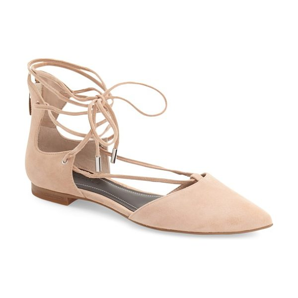 KENDALL + KYLIE sage pointy toe ghillie flat in blush suede - Take your ghillie obsession to the next level with a...
