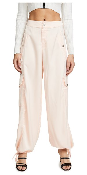 KENDALL + KYLIE satin cargo pants in blush