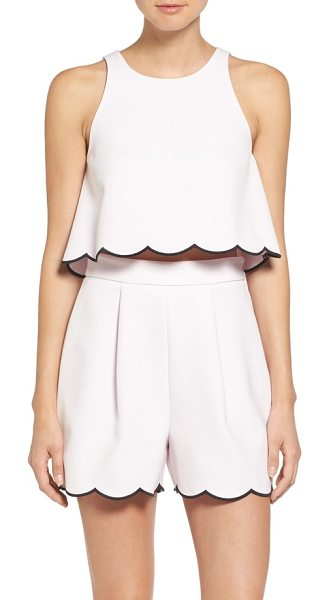 KENDALL + KYLIE scallop hem crop top - A flared silhouette adds flattering volume to this...