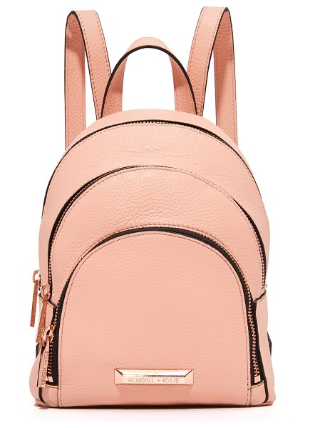 KENDALL + KYLIE sloane mini backpack - A petite, pebbled leather KENDALL + KYLIE backpack with...