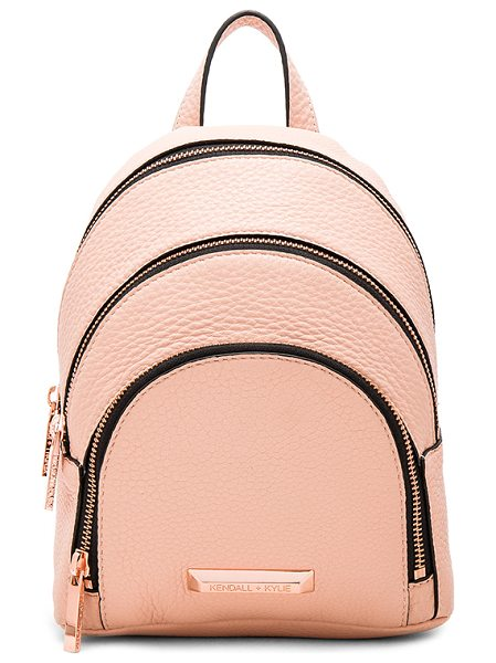 KENDALL + KYLIE Sloane Mini Backpack in blush - Leather exterior with suede lining. Zip around closures....