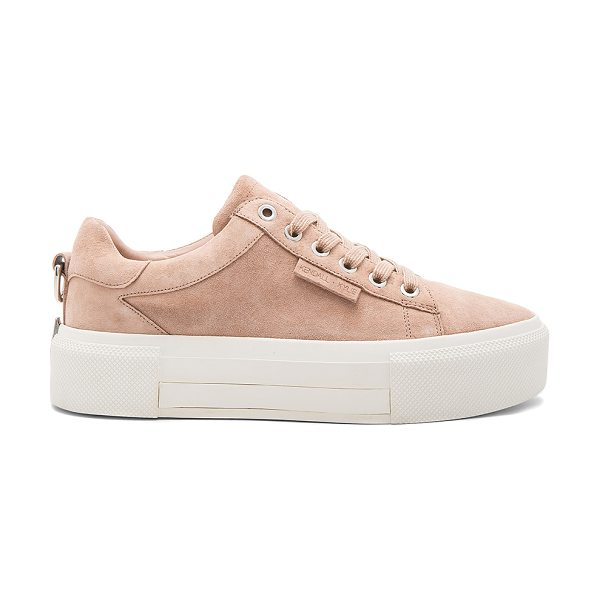"""KENDALL + KYLIE Tyler Sneaker in blush - """"Suede upper with rubber sole. Metallic accents on back...."""