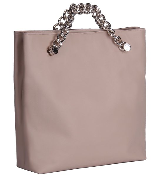 KENDALL + KYLIE Van Leather Chain Clutch Bag in cream tan - Kendall + Kylie leather clutch bag. Two chain top...