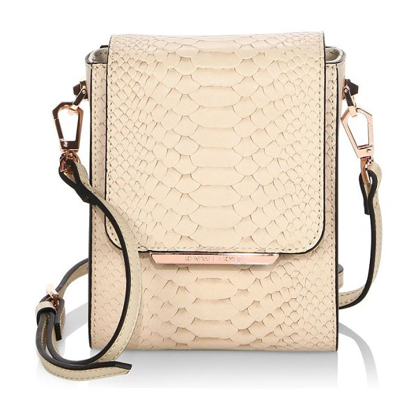 KENDALL + KYLIE violet leather mini crossbody bag in creamtan - From the Kendall+Kylie Collection. Textured leather mini...