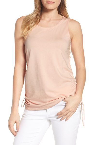 Kenneth Cole cinched drawstring tank in peachy keen - Every tank should make you look as good as this one cut...