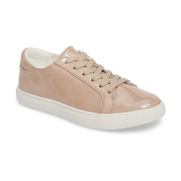 Kenneth Cole kam techni-cole sneaker in nude patent leather - A striking platform sneaker perfectly punctuates your...