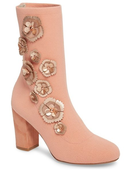 Kenneth Cole kenneth cole alyssa bootie in blush - Velvet fabric or patent faux-leather define an essential...