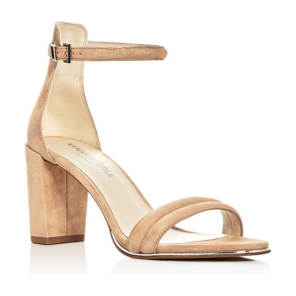 KENNETH COLE Lex Ankle Strap Block Heel Sandals - Kenneth Cole Lex Ankle Strap Block Heel Sandals-Shoes
