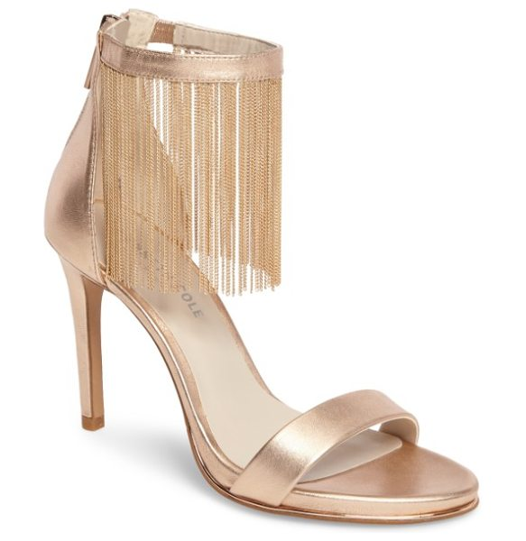 Kenneth Cole bettina chain fringe sandal in rose gold metallic
