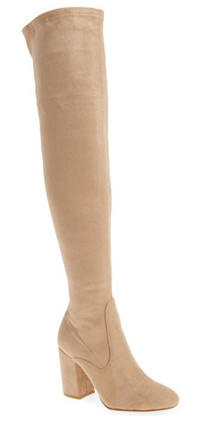 Kenneth Cole carah over the knee boot in almond fabric - Clean lines and minimalist styling play up the...
