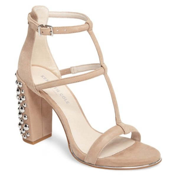 Kenneth Cole deandra 2 statement heel sandal in almond suede