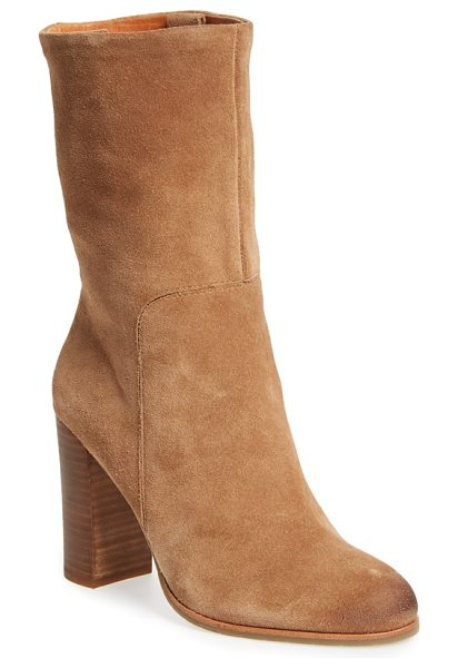 KENNETH COLE 'jenni' round toe boot - Burnished at the toe for a slightly lived-in look, this...