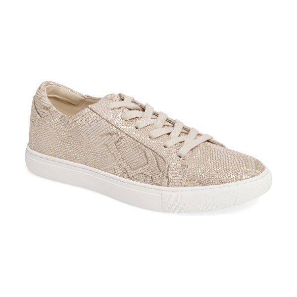 Kenneth Cole 'kam' sneaker in natural suede - A sleek, streamlined platform sneaker perfectly...