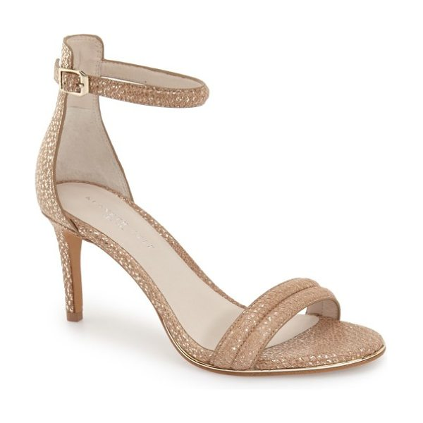 Kenneth Cole 'mallory' ankle strap sandal in rose gold - A slim ankle strap adds ample modern flair to a svelte,...
