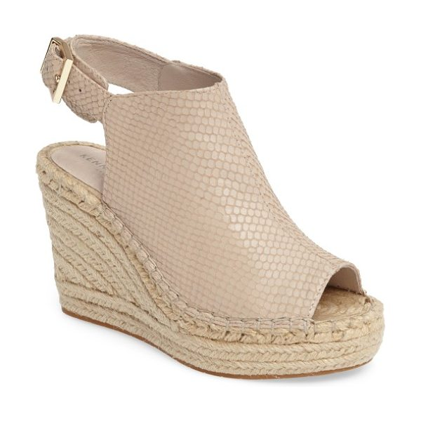 Kenneth Cole 'olivia' espadrille wedge sandal in clay leather - A jute-wrapped espadrille platform adds abundant earthy...