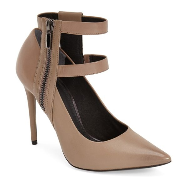 Kenneth Cole wren ankle strap pump in beige - Double ankle straps lend a poised, modern touch to a...