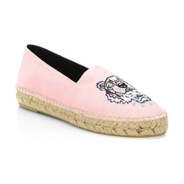KENZO classic faded espadrilles in faded pink - Cotton-blend espadrilles featuring a front graphic....