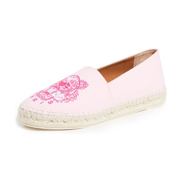 KENZO classic tiger espadrilles in pastel pink - Fabric: Canvas Braided jute platform Logo embroidery...