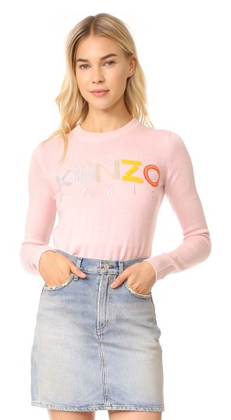 KENZO crew neck classic sweater - A mix of terry and felt patches form a logo motif on...
