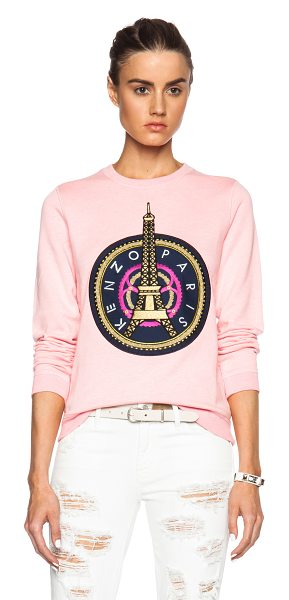 KENZO Eiffel tower sweatshirt - 100% cotton.  Made in Portugal.  Embroidery stitching...