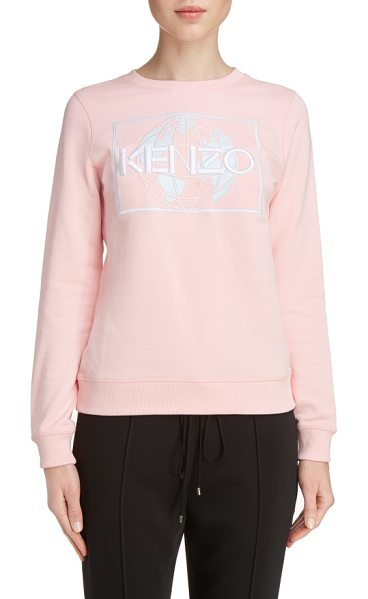 KENZO embroidered cotton sweatshirt - As part of KENZO's new mission to help protect the...