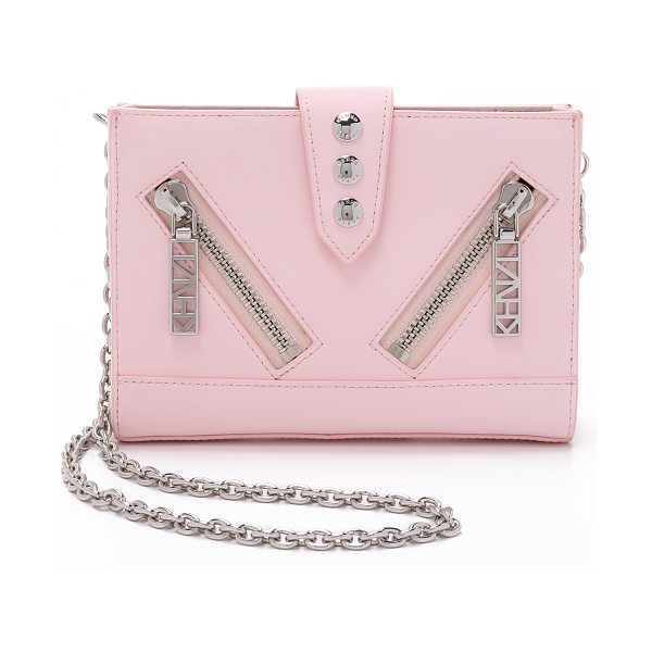 KENZO Kalifornia cross body bag in rose - A sturdy, petite KENZO handbag with bold hits of...