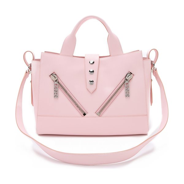 KENZO Kalifornia tote in rose - This rich leather KENZO bag makes a luxe impression. The...