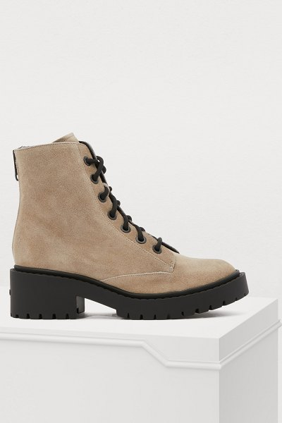 KENZO Lace-up boots in beige