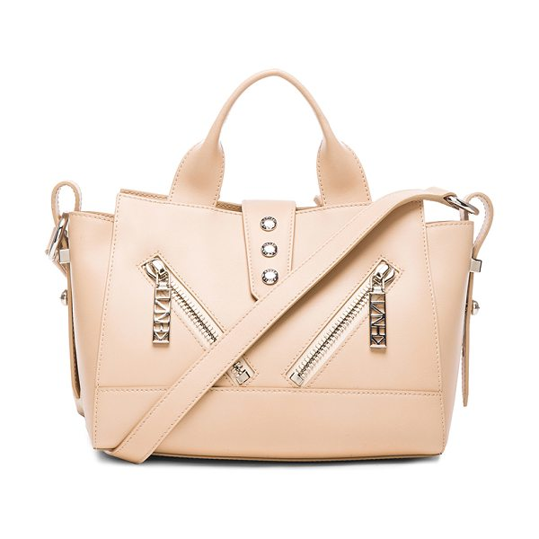 KENZO Mini kalifornia bag in neutrals - Calfskin leather with jacquard fabric lining and...