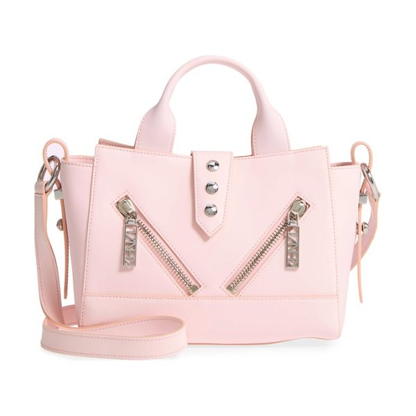 KENZO 'mini kalifornia' leather satchel in faded pink - An electric blue hue highlighted by silvery zip hardware...