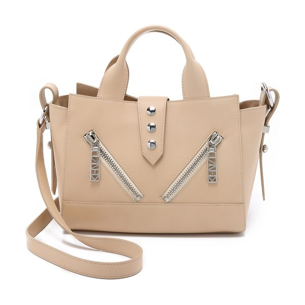 KENZO Mini kalifornia tote in nude - A scaled down version of the signature leather KENZO...
