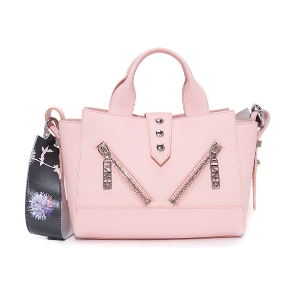 KENZO mini kalifornia tote in rose - A scaled-down version of the signature leather KENZO...