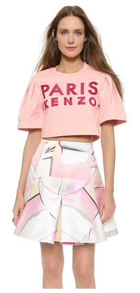 KENZO Paris cropped sweatshirt in flamingo pink - A cropped KENZO sweatshirt feels playful, detailed with...