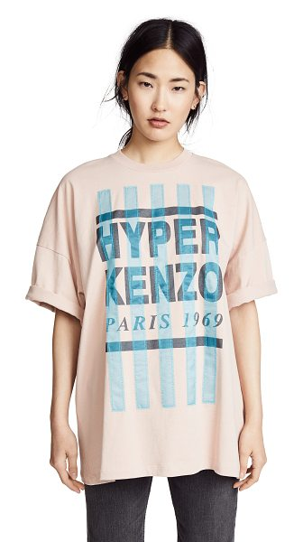 KENZO slit oversized t-shirt in skin - Fabric: Jersey Oversized fit Logo lettering Contrast...