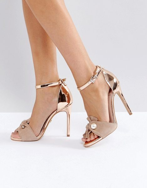 "KG Kurt Geiger KG by Kurt Geiger Hermione Strap Heeled Sandals in beige - """"Sandals by KG by Kurt Geiger, Leather upper,..."