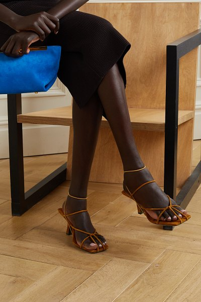 Khaite monza suede sandals in brown